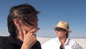 Linda Leslie and Julie Schumer scouting locations